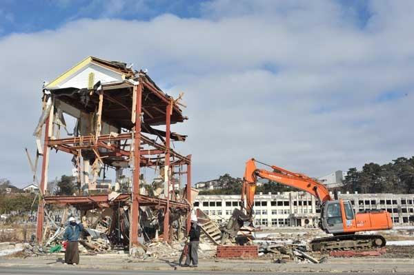石巻の津波被害
